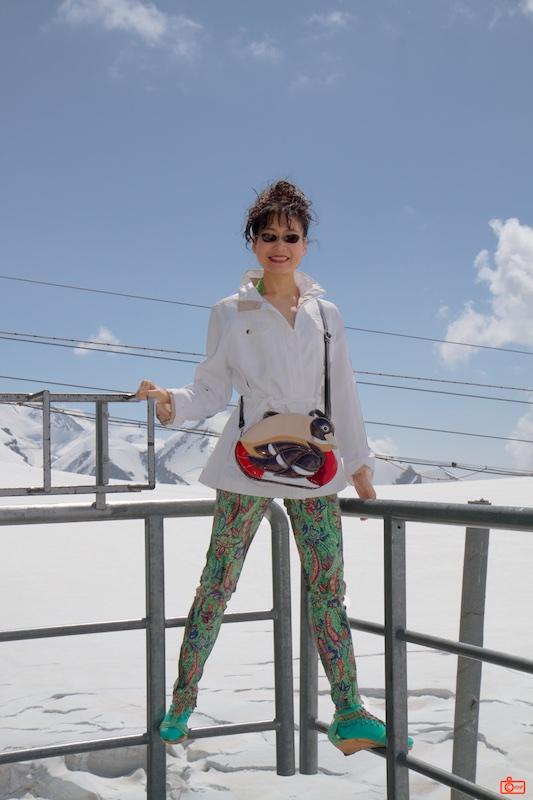Rosa at the summit of the Klein Matterhorn, 3,883 metres (12,740 ft).