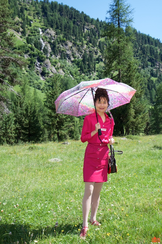 Rosa in the valley outside Pontresina.